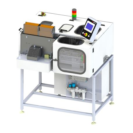 Picture of a Hauni tube filling machine (TFM) for the hemp pre-roll production.